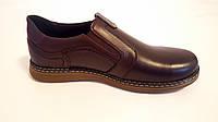 Чоловічі шкіряні туфлі Kristan brown old school, фото 1