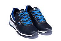 Мужские кожаные кроссовки синие FILA blue (реплика), фото 1