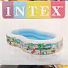 Детский надувной бассейн 56490 Intex, 572 литра (Райская лагуна) 262*160*46 см, фото 3