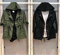 Летняя легкая куртка ветровка женская парка длинный рукав cavalieri