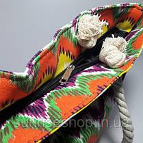 Сумка текстильная летняя для пляжа и прогулок, фото 3