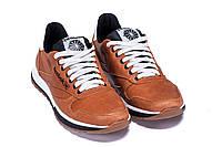 Мужские кожаные кроссовки в стиле Reebok Classic brown коричневые, фото 1