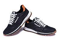 Мужские кожаные кроссовки Reebok Classic black черные