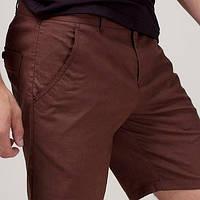 Мужские летние шорты лен приталенные легкие не парят