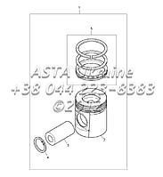 Поршни и кольца, двигатель 1104C-44Т, RG38101 Г1-2-3, фото 1
