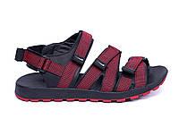 Мужские кожаные сандалии в стиле Nike Summer life red красные, фото 1