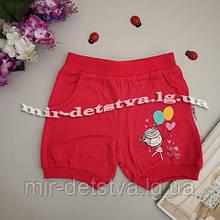 Трикотажні шорти для дівчаток оптом Туреччина р. 1-4 роки (4 шт в ростовці) малина
