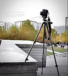 Штатив для камери(фото відео) і телефона тринога трипод А508 (125см), фото 8