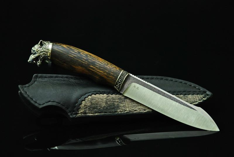 """Нож охотничий ручной работы """"Вожак-4"""", N690"""