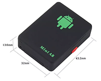 Мини GPS трекер A8 mini GPS маячок для наблюдения и прослушка