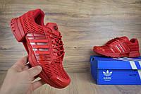 Мужские кроссовки Adidas ClimaCool  в сетку красные (ТОП реплика)