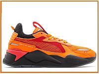 Мужские кроссовки Puma RS-X Toys Hot Wheels Camaro (пума рс -х, оранжевые / черные)