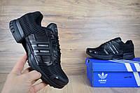 Мужские кроссовки Adidas ClimaCool  в сетку черные (ТОП реплика)