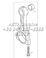 Поршни и кольца, двигатель 1104C-44Т, RG38101 Г1-2-4, фото 1