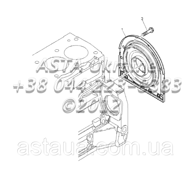 Задний сальник двигателя 1104C-44Т, RG38101 Г1-2-5