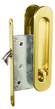 Ручки для раздвижной двери с замком I-05 PB (золото)