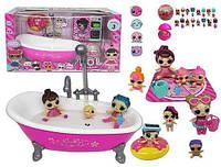 Игровой набор детский с куклами LOL и ванной ТМ923