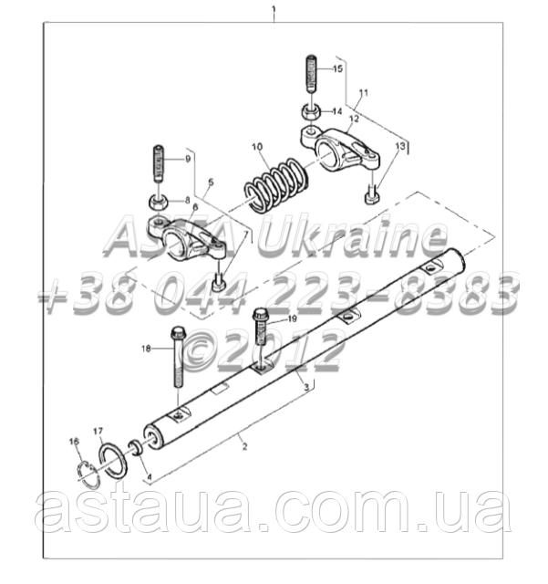 Рокер, двигатель 1104C-44Т, RG38101 Г1-2-7