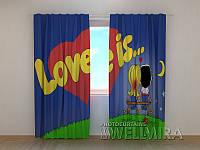 """Фото штора """"Love is"""""""