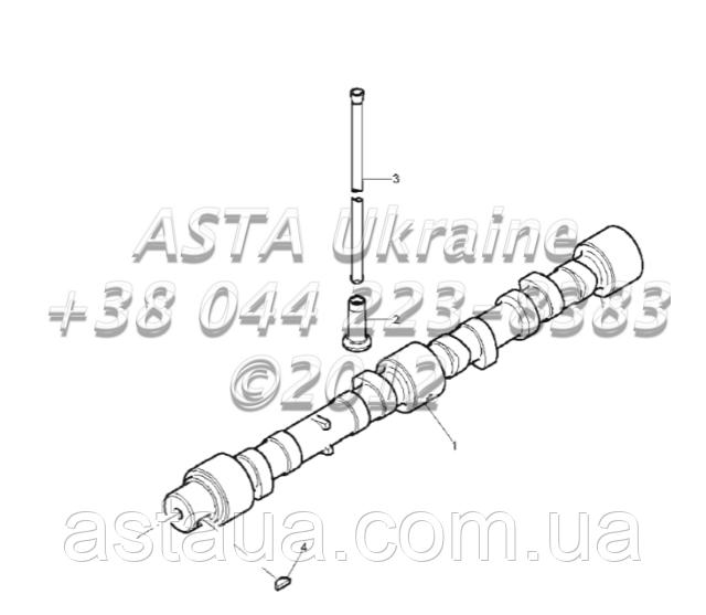 Передача, вал, двигатель 1104C-44T, RG38101 G1-2-8