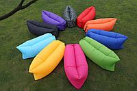 Надувной диван шезлонг гамак мешок Ламзак Lamzac, AIR sofa, (Зеленый) длина 2 метра! (Биван), фото 1