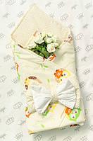 Конверт-одеяло для новорожденных на выписку летний из хлопка