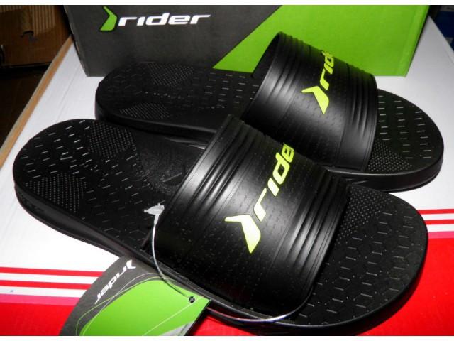 Шлепки Rider 82577-21675 черный\зеленый * 20376