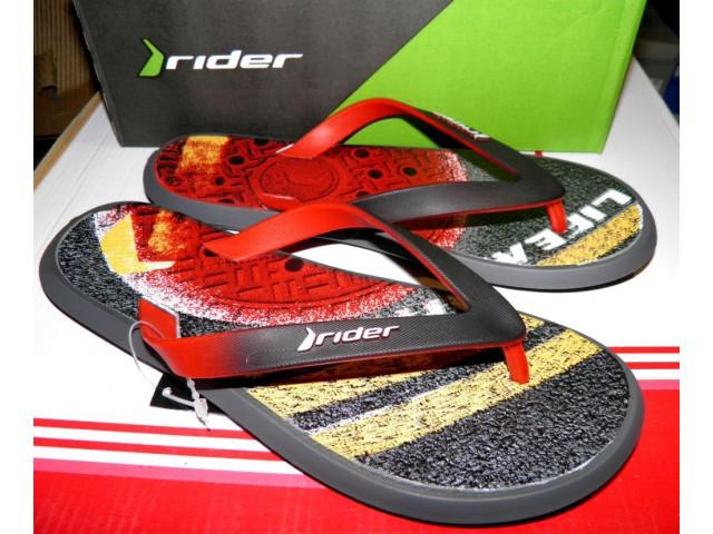 Шлепки Rider * 82562-23293 серый\красный\черный * 20371