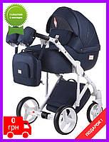 Детская коляска универсальная 2 в 1 Adamex Luciano jeans Q5 (Адамекс Лучиано) Польша