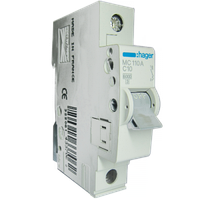 Автоматический выключатель In=13 А, 1п, В, 6 kA, 1м Hager (MB113A)