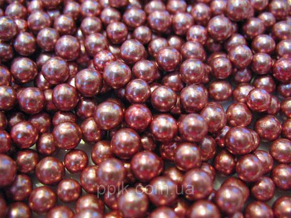 Посыпка шарики перламутровые розовые 5 мм, 50 грамм, фото 2