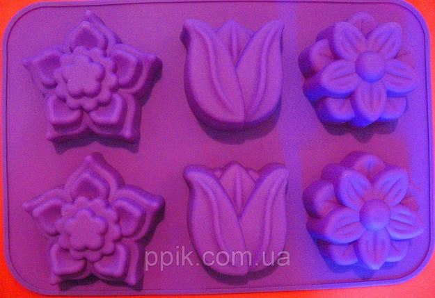 Форма силиконовая Весенние цветочки, фото 2
