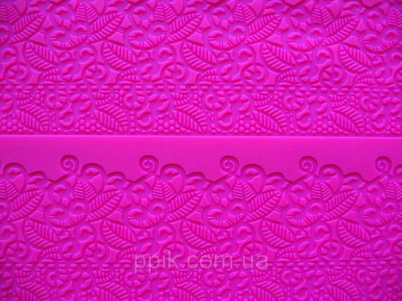 Коврик кондитерский силиконовый для айсинга Гавайские цветы, фото 2