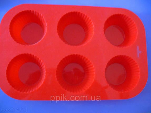 Форма силиконовая кексы из 6 шт., фото 2