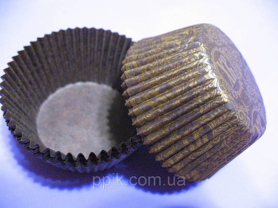 Тарталетки бумажные для кексов, капкейков Коричневые Пасхальные, фото 2