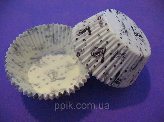 Тарталетки (капсулы) бумажные для кексов, капкейков Кофейня 2, фото 2