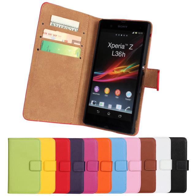"""SONY Z C6602/C6603 оригинальный чехол книжка цветной для телефона """"COLOUR FLIP"""""""