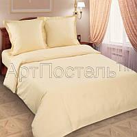 Комплект однотонного постельного белье поплин  Шампань, разные размеры