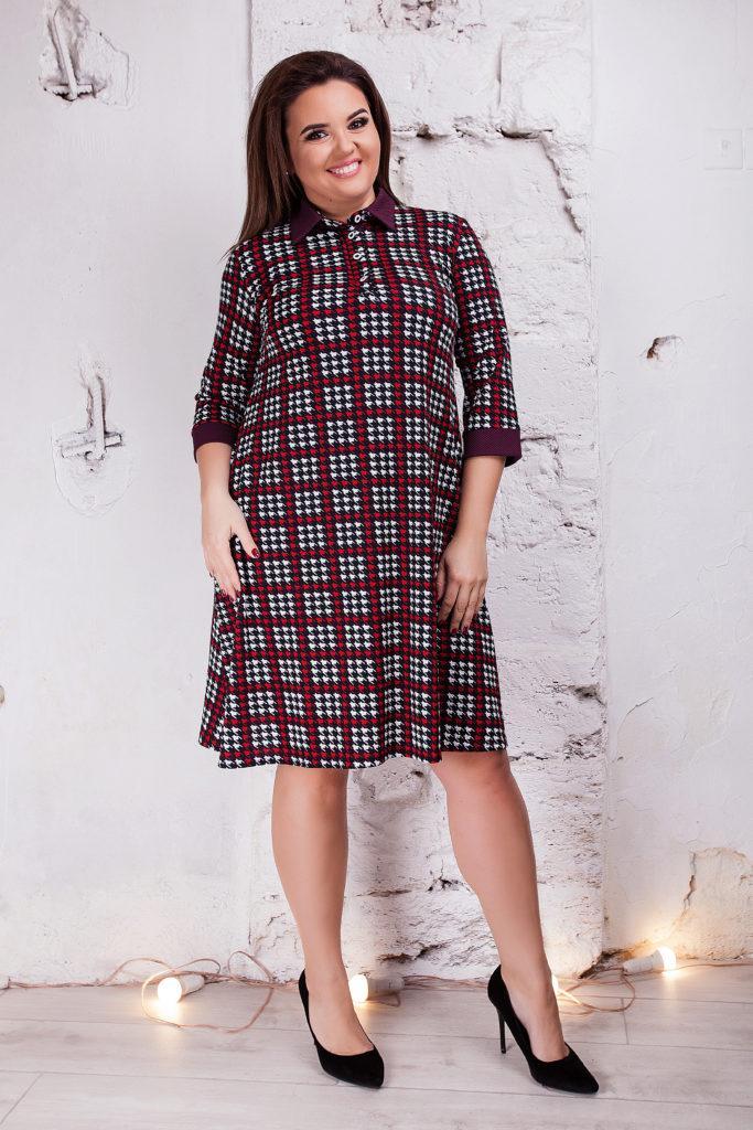 Женское платье монашка поло черное 8163