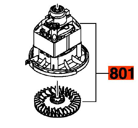 Двигун до газонокосарки BOSCH ROTAK 32