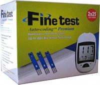 Глюкометр Finetest Auto-coding Premium + 50 тест-полосок (февраль 2021 г.)