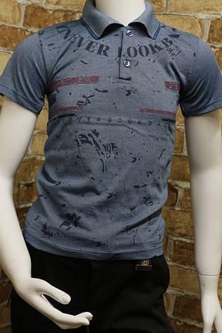 Детская летняя футболка-поло для мальчика 3-7 лет , фото 2