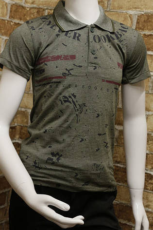 Подростковая футболка-поло на лето для мальчика 8-12 лет , фото 2