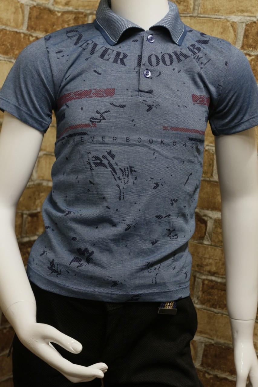 Подростковая футболка-поло на лето для мальчика 8-12 лет