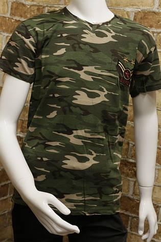 Детская камуфляжная футболка для мальчика 6-12 лет , фото 2