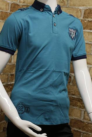 Летняя футболка  с воротником подростковая для мальчика 11-14 лет, фото 2