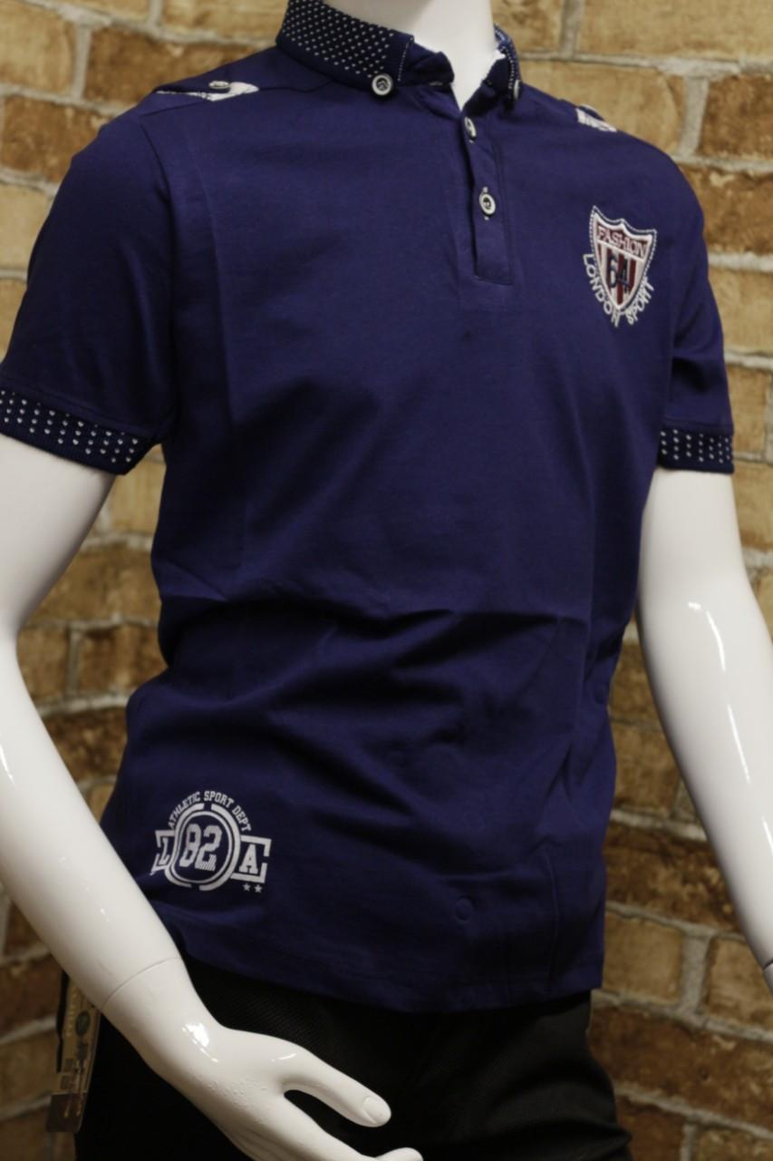 Летняя футболка  с воротником подростковая для мальчика 11-14 лет