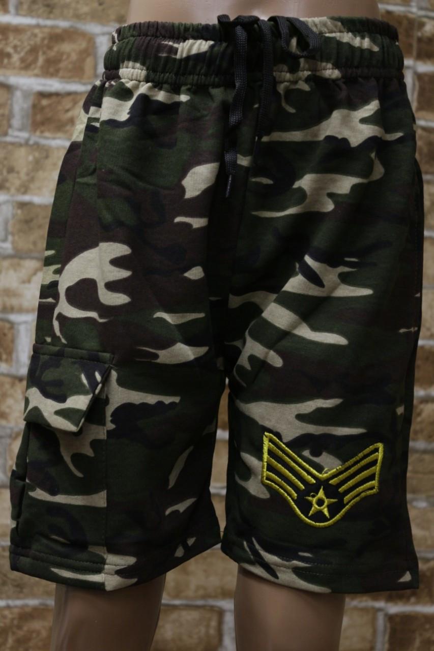 Камуфляжные шорты для мальчика подросток 9-12 лет