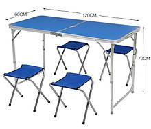 Розкладний стіл для пікніка зі стільцями Folding Table 4 Seat, стіл та 4 стільці, стіл розкладний, фото 2