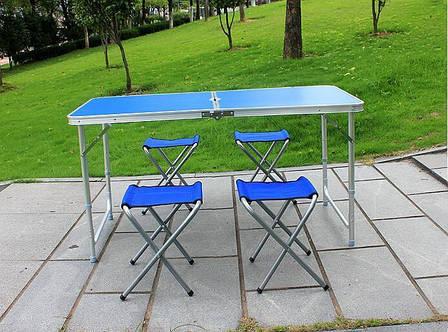Раскладной стол для пикника со стульями Folding Table 4 Seat, стол и 4 стула, стол раскладывающийся, фото 2